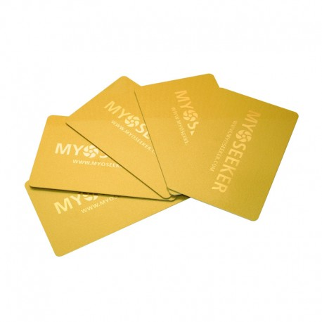 MyoCards pack 5 pieces (color gold)